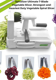 Spiralizer Ultimate 7-Blade Vegetable Slicer, Strongest-and-Heaviest Duty Vegetable Spiral Slicer